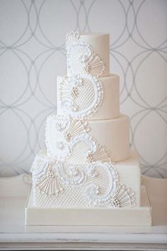 Oh So Very Pretty Wedding Cakes from Bobbette Belle. wedding weddings cakesSource From So Very Pretty Wedding Cakes. Pretty Wedding Cakes, Amazing Wedding Cakes, Wedding Cakes With Cupcakes, White Wedding Cakes, Elegant Wedding Cakes, Elegant Cakes, Wedding Cake Designs, Pretty Cakes, Wedding Cake Toppers