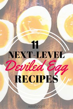 11 Next-Level Deviled Egg Recipes // The ultimate snack food for picnics and potlucks, taken to entirely new heights with fun, unexpected ingredients. Egg Recipes, Real Food Recipes, Cooking Recipes, Yummy Food, Salad Recipes, Best Deviled Eggs, Deviled Eggs Recipe, Omelettes, Appetizers For Party