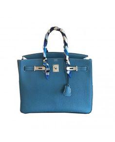 Bolsa Hermès Birkin 35 Couro Togo  Azul