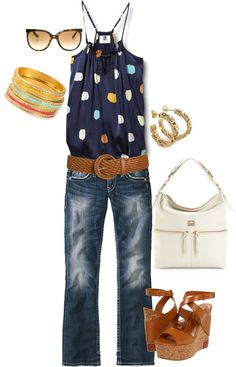 warm summer nights, created by joslynnbeth on Polyvore