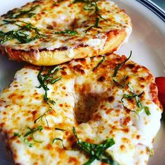 Now this is what you call a good combination... A pizza bagel... I would eat this 3 times fast If I could. Yummy yum yum  by: @food_ilysm  Go follow our personal accounts @keontae_hogains and @devionharris  Tag some of your best friends  Leave a follow and #instafood_lover or tag @instafood_lover in your pics to be featured! by instafood_lover
