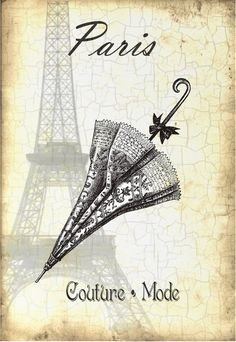 The Eiffel Tower (French: La Tour Eiffel, Paris, France. Images Vintage, Vintage Pictures, Vintage Labels, Vintage Ephemera, Album Vintage, Etiquette Vintage, Paper Art, Paper Crafts, Paris Images