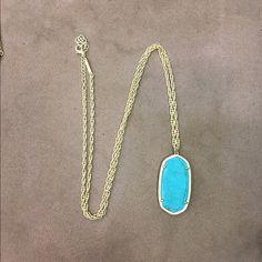 Kendra Scott necklace turquoise Kendra Scott necklace, never been worn Kendra Scott Jewelry Necklaces