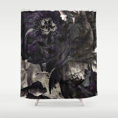 goth peony Shower Curtain by Inourgardentoo - $68.00