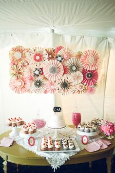 Backdrop for desserts. Marquee wedding ~ Emily Steffen Photography via Wedding Sparrow