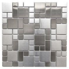 Eden Mosaic Tile Modern Cobble Pattern Stainless Steel Mosaic Tile in Gray/Silver