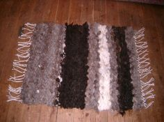 Pure Wool Rug,Hand Made on a pegloom using British Fleece in shades of Black, Grey, Brown & White, 37 x 30 inches plus fringe by HowManyBeansMakeFive on Etsy Etsy Handmade, Handmade Gifts, Peg Loom, Etsy Business, Etsy Crafts, Home Decor Furniture, Woven Rug, Etsy Jewelry, Christmas Themes