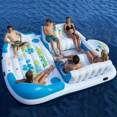This is how to spend your weekend! Tropical Tahiti Inflatable Floating Island. Find it here: http://amzn.to/2nJW8an