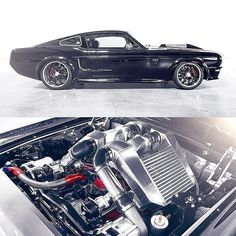 """The insane """"Obsidian"""" twin-supercharged '67 Mustang. #Mustang #ClassicsDaily"""