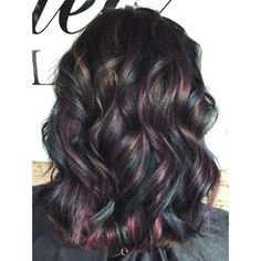 black hair with highlights and lowlights – Black Hair Black Hair With Lowlights, Black Hair With Highlights, Hair Highlights, Slick Hairstyles, Trendy Hairstyles, Curly Hairstyles, Short Blue Hair, Low Lights Hair, Natural Hair Styles