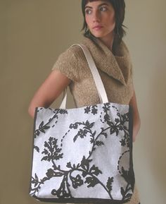Woven totes from Alena Hennessy. All her stuff is so pretty.