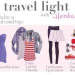 travel light: weekend road trip