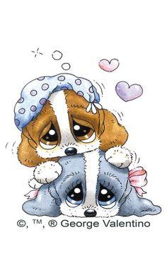 Sad Sam and Honey Puppy Pictures, Animal Pictures, Cute Pictures, Cute Animal Drawings, Cute Drawings, Cartoon Pics, Cute Cartoon, Cute Puppies, Cute Dogs