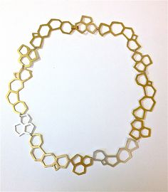 Fragments Necklace by Erica Stankwytch Bailey: Silver & Brass Necklace available at www.artfulhome.com