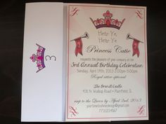 Princess Royal Birthday Invitations by YourTimeToShine on Etsy, $25.00