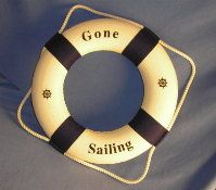 14 Inch Nautical Buoys / Bouys Gone Sailing Life Rings : click to enlarge