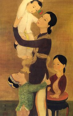 Mother and her three children (detail), Le Pho