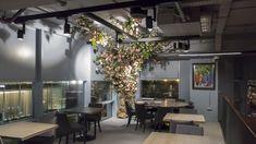 Four Degrees, Vauxhall Modern Restaurant, Restaurant Bar, Recessed Spotlights, Bar Lighting, Interior, Table, Projects, Furniture, Design