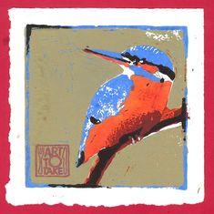 IJsvogel - linosnede Mobile Art, Kitchen Art, Prints, Painting, Painting Art, Printed, Paintings, Painted Canvas, Art Print