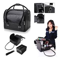 Hotrose Professional Beauty Make Up Case Nail Cosmetic Box Vanity Case (Black) *** Check out this great image  : Makeup Set