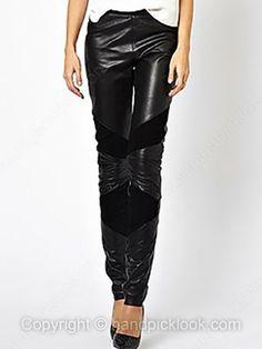 Black Fashion PU High Waist Pant -$34.69