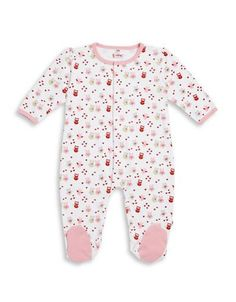 E=Mc Owl Patterned Footie  Pink 6 Months
