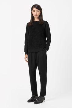 Texture front sweatshirt