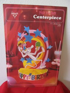 Vintage Pink Panther Centerpiece - Happy Birthday! https://www.etsy.com/listing/205158994/vintage-pink-panther-centerpiece-happy?ref=sr_gallery_3&ga_search_query=pink+panther+decorations&ga_search_type=all&ga_view_type=gallery