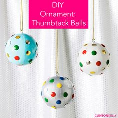 DIY these cheeky and colorful ornaments for a fun addition to your Christmas tree!