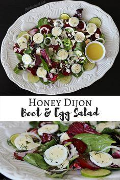 Honey Dijon Beet And Egg Salad