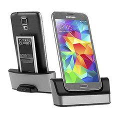 Dock Carregador de Mesa  Super Gadgets Galaxy S5 G900 Slot Bateria Extra  - Super Gadgets