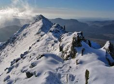 Snowdon... the highest mountain in Wales at 1085m.