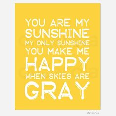 baby nursery quotes walls | You Are My Sunshine Baby Nursery Wall Art Quote PERSONALIZED - Summer ...