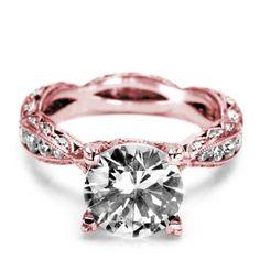 Tacori rose gold engagement ring