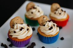 Chocolate Chip Cookie Dough Cupcakes | Beantown Baker