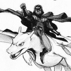 Darth Vader is riding a Charizard. Your argument is invalid
