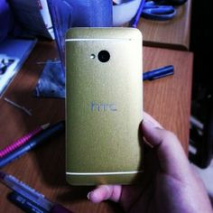 Brushed Gold Slickwrap for the HTC One!  Instagram photo by @Lidia Chavez Eunice Lam Lopez (Eunic3) | Statigram