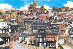 Painting of Nantwich, Cheshire http://www.stuartsoriginals.com/towns/nantwich.html