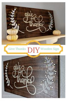 Make Your Own Wooden Sign for Thanksgiving | Lil' Mrs. Tori