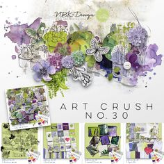 The beauty and diversity of life on earth never ceases to amaze me. August's BYOC (artCrush No 30), rejoices in the delight of nature and is awash with floral tones of lavender, lilac, leafy greens and breezy blues. Indulge your inner gardener and adorn your pages with the bounty of goodies found in these kits. Lilac, Lavender, Collections Catalog, Scrapbook Supplies, Diversity, Digital Scrapbooking, Blues, Goodies, Card Making