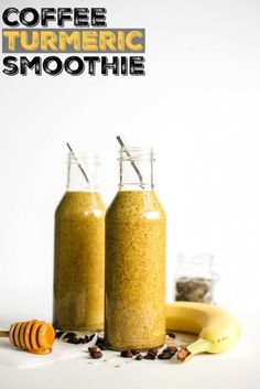Kill two birds with one stone with this Coffee Turmeric Smoothie. Get your coffee fix but reap the benefits of this good-for-you smoothie.