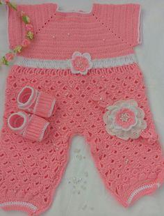 conjunto pata niña a crochet