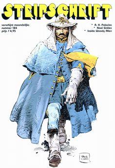 Antonio Hernandez Palacios Jean Giraud, Serpieri, Morris, Bd Comics, Woody Allen, Line Illustration, Bold Colors, Style Inspiration, Fictional Characters