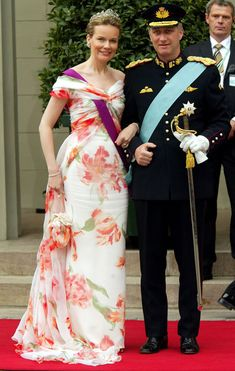 Belgium's Crown Prince Philippe and Princess Mathilde arrives to attend the wedding between Crown Prince Frederik and Mary Donaldson in Cope...