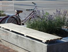 landscape bench planter - Google Search