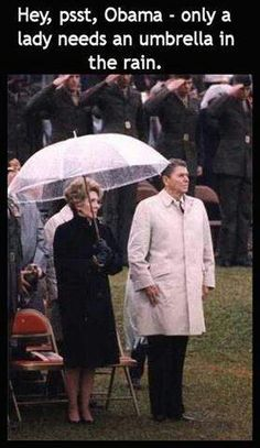Reagan - a real man and a president deserving of respect