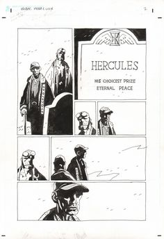 Mike Mignola Helboy and The Lion page $1500 Comic Art