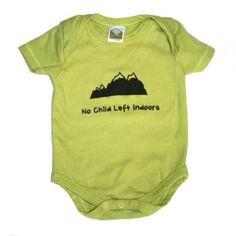 No child left indoors baby onesie on organic cotton