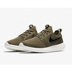 on sale 1f7df 39548 Roshe Two Low Lifestyle Shoes Iguana Green Black Sail White