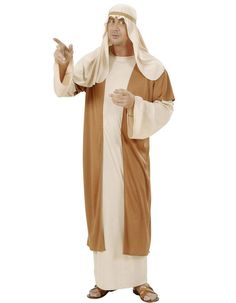 Disfraz de San José Navidad adulto: Este disfraz de San José para hombre está compuesto por una túnica, un chaleco y una cofia (zapatos no incluidos). El vestido largo es de color beige, de manga larga y con un...